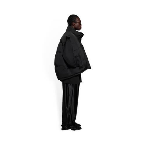 sleeveless cocoon jacket