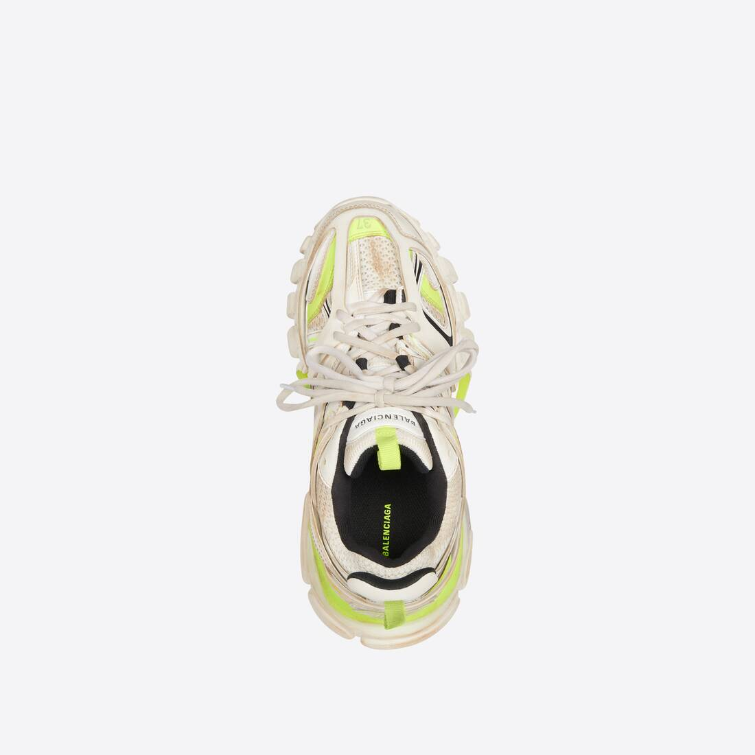 Display zoomed version of track sneaker worn out 5