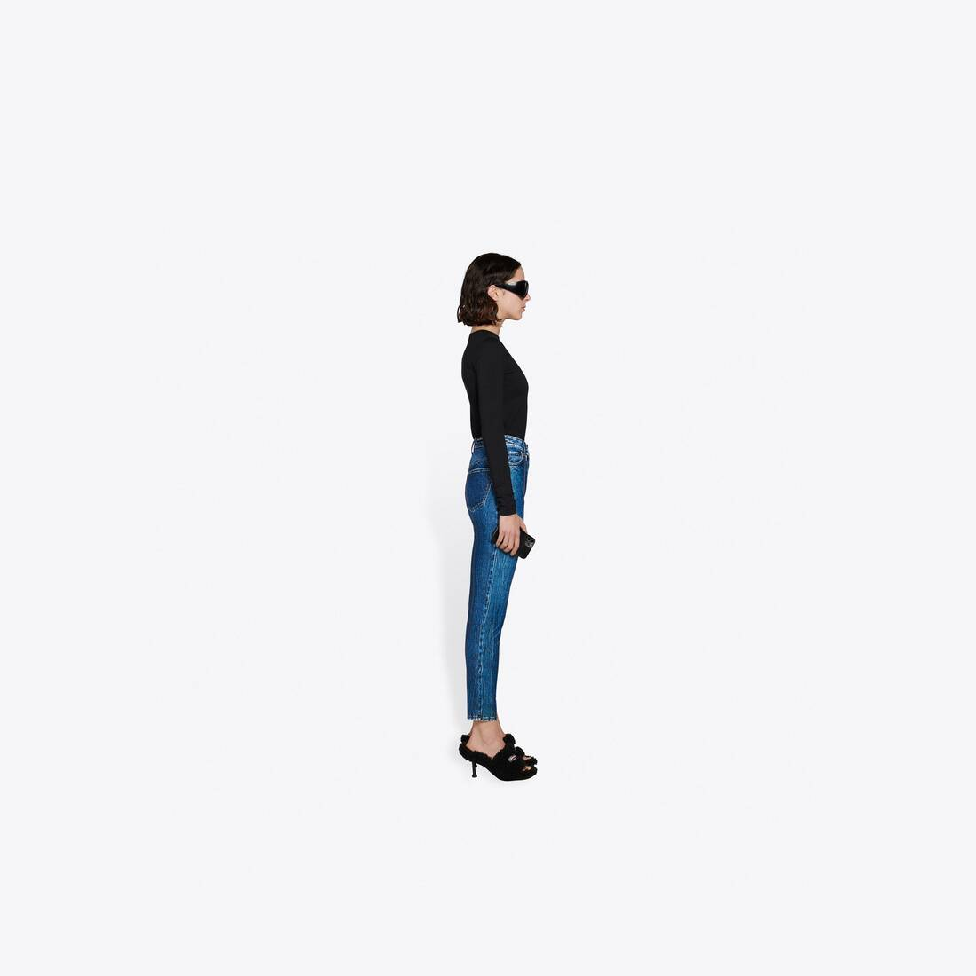 Display zoomed version of trompe-l'oeil denim leggings 4