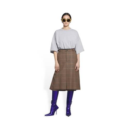 flat box pleat skirt