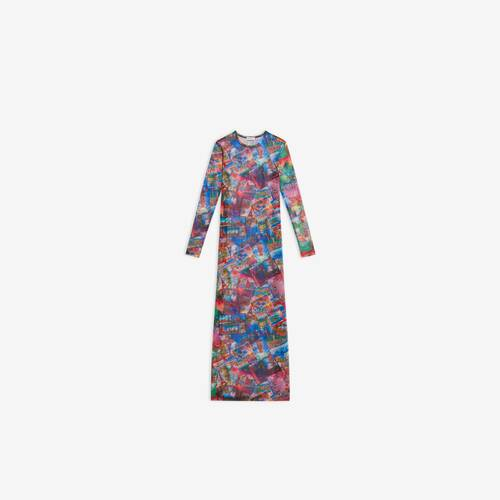 long sleeve stretch dress