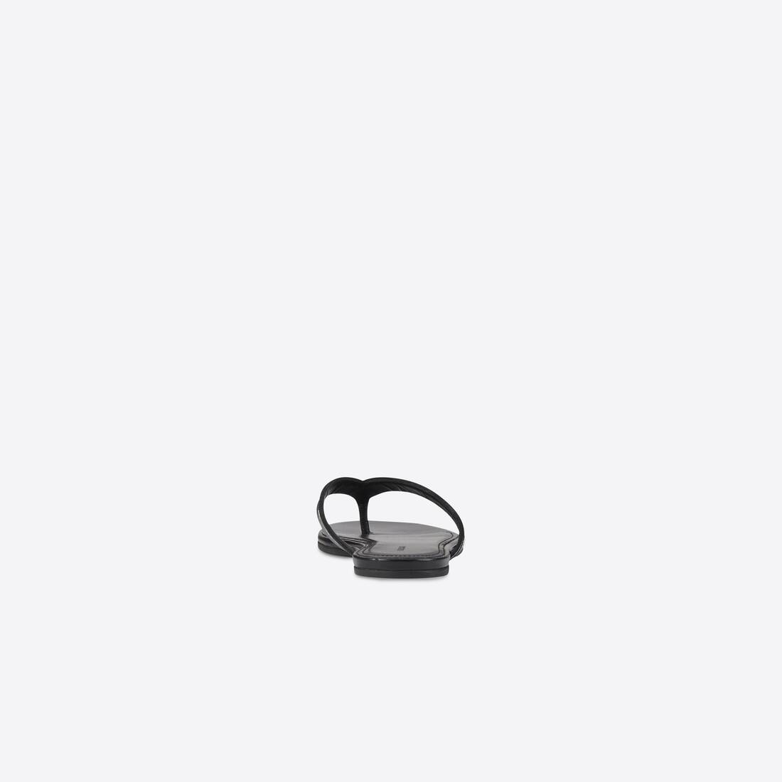 Display zoomed version of allover logo round thong sandal 2