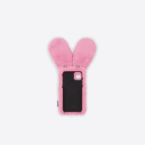 fluffy bunny phone case