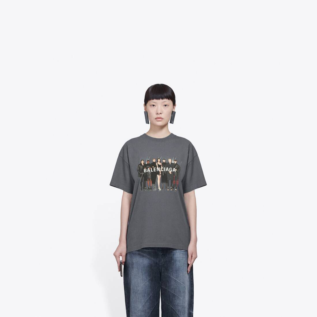 Display zoomed version of real balenciaga medium fit t-shirt 3