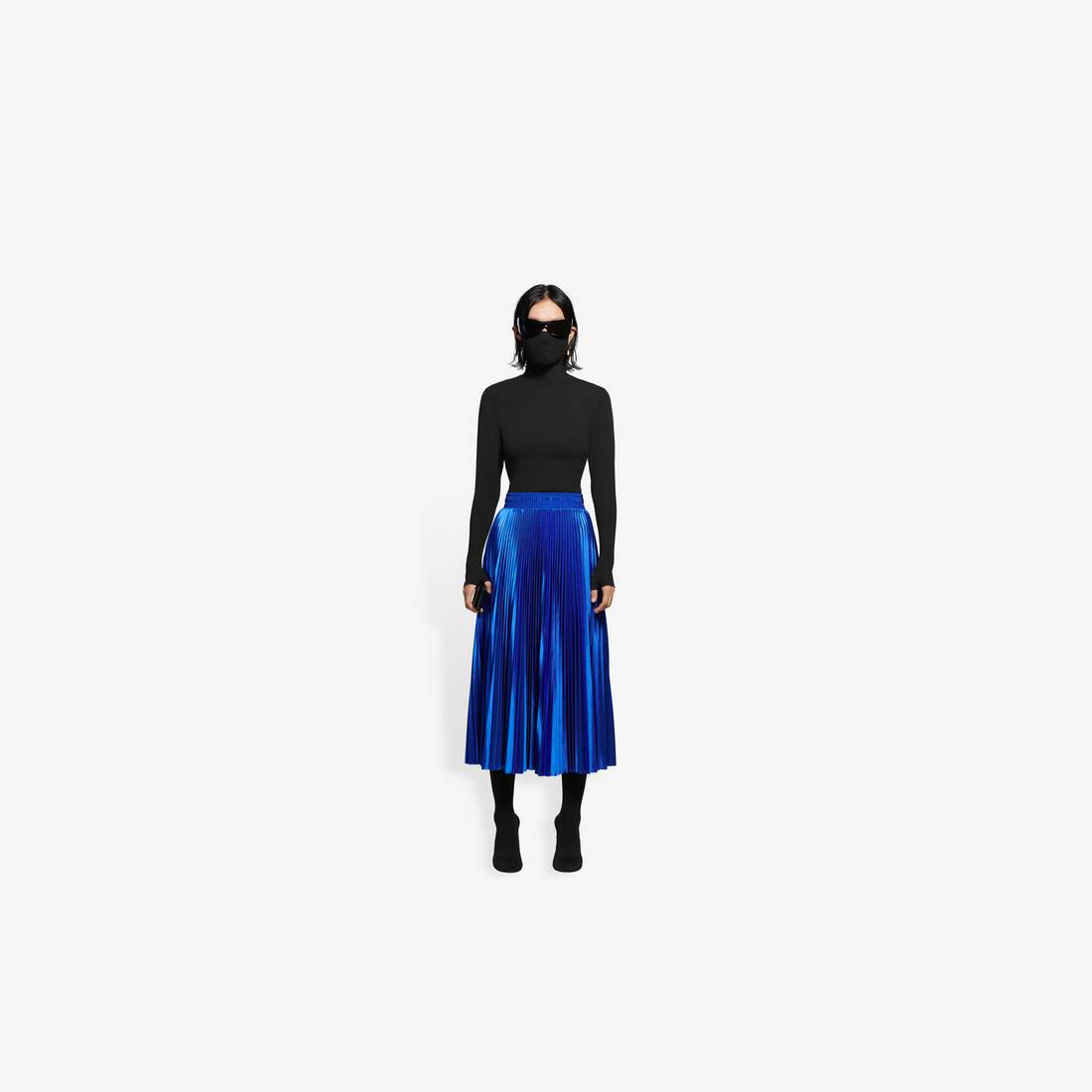 Display zoomed version of pleated tracksuit skirt 3
