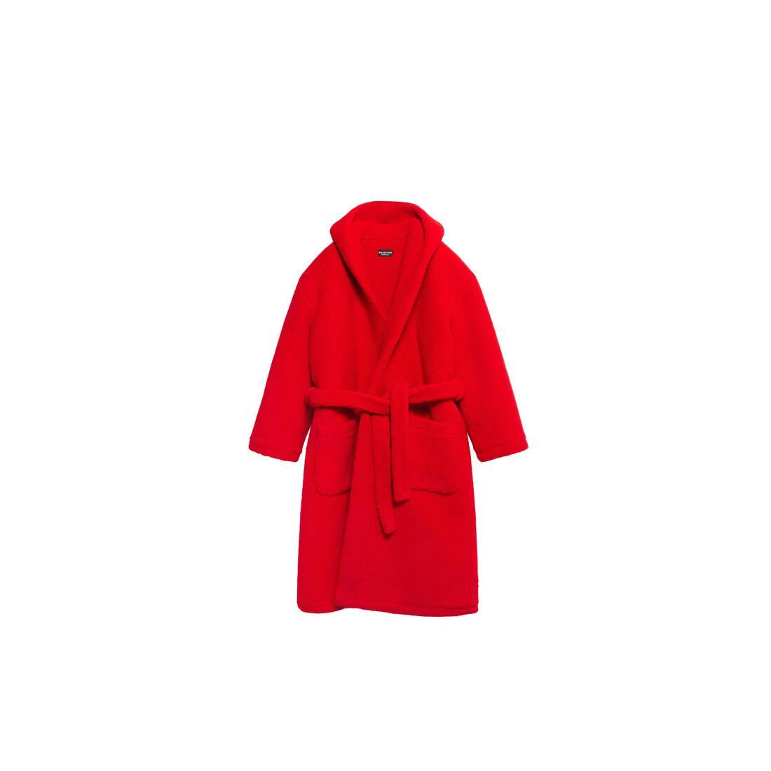 Display zoomed version of hooded bathrobe 1