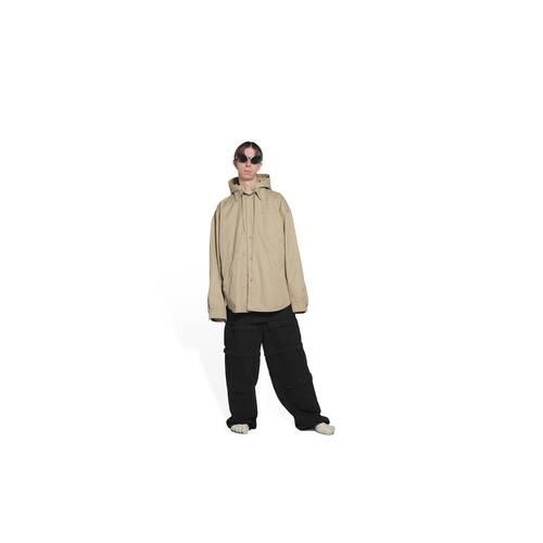 hooded parka shirt