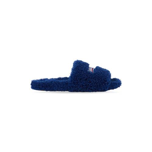furry slide sandal