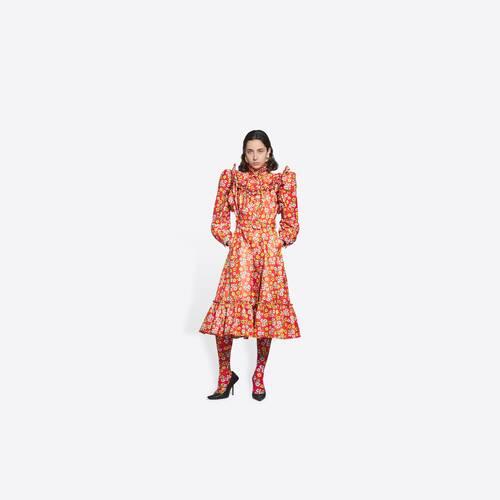ruffle dress coat