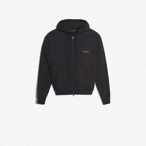 copyright zip-up hoodie