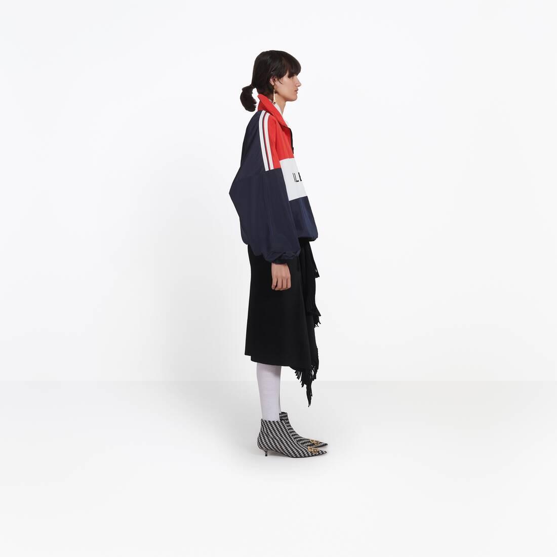 Display zoomed version of zipped nylon logo jacket 3