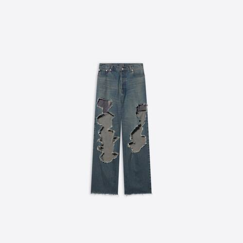 destroyed large baggy pants