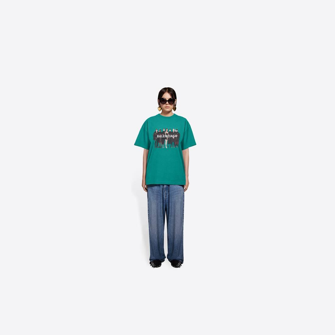 Display zoomed version of real balenciaga medium fit t-shirt  6