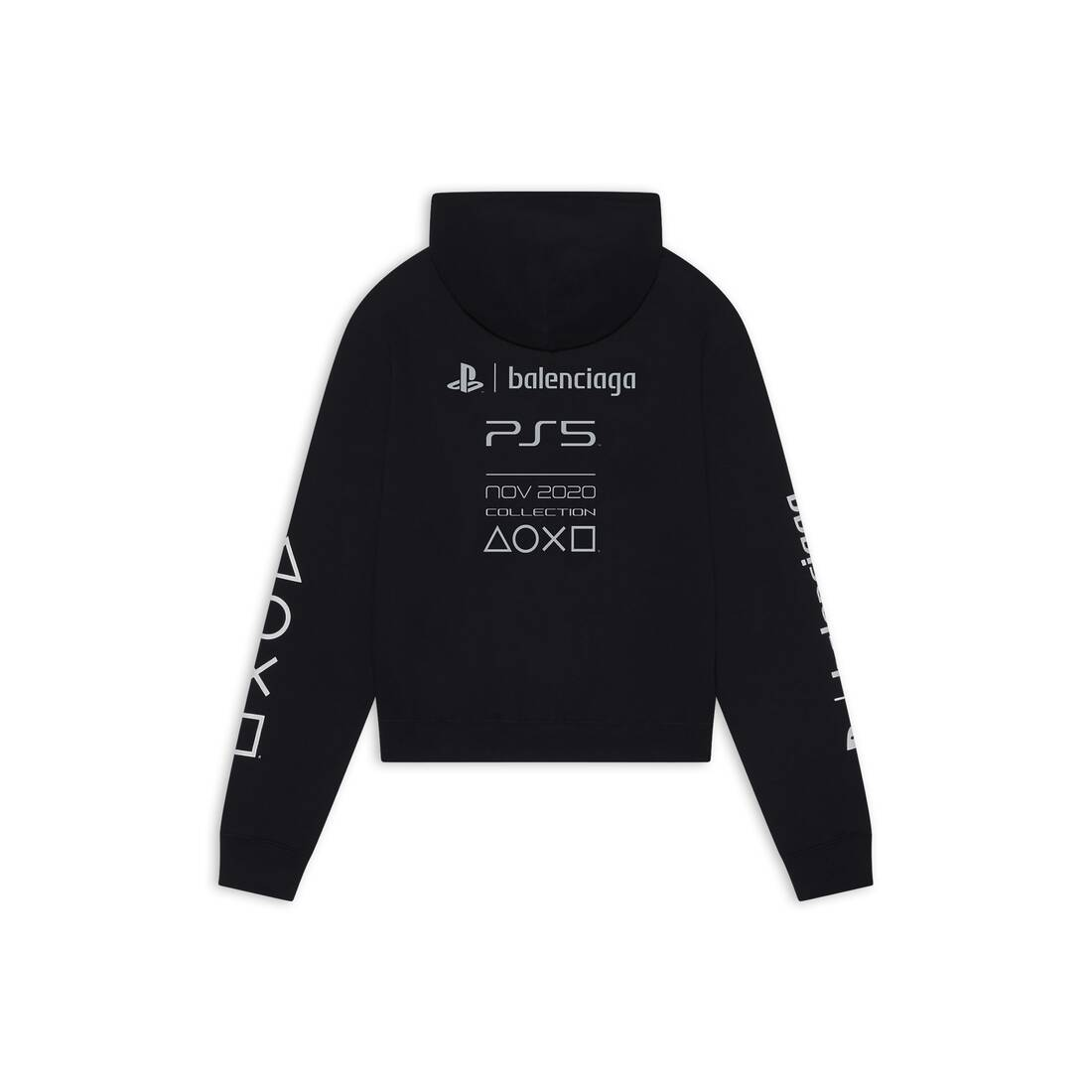 Display zoomed version of playstation fitted hoodie 2