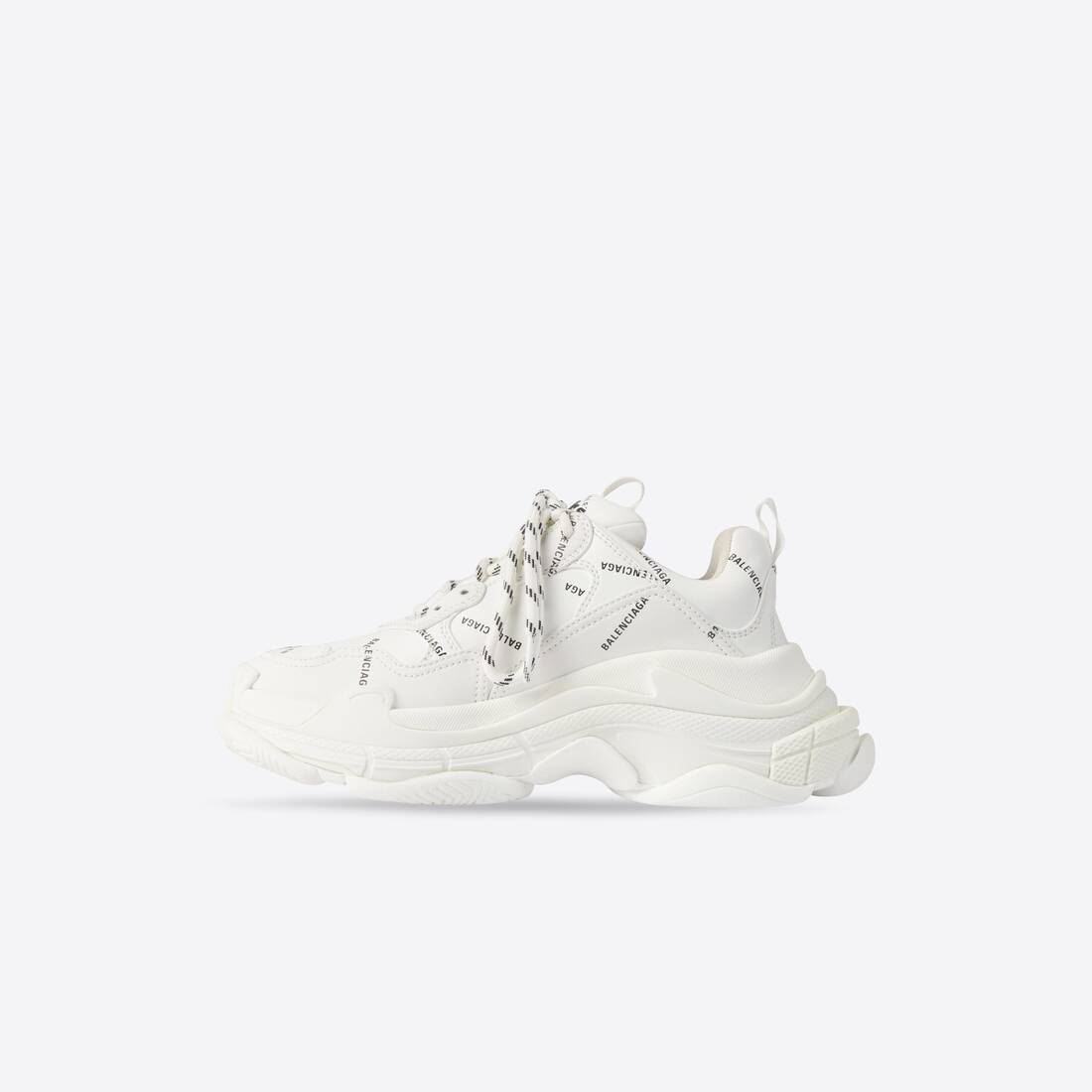 Display zoomed version of allover logo triple s sneaker 4