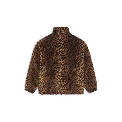 leopard zip-up jacket