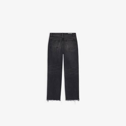 raw cut slim pants