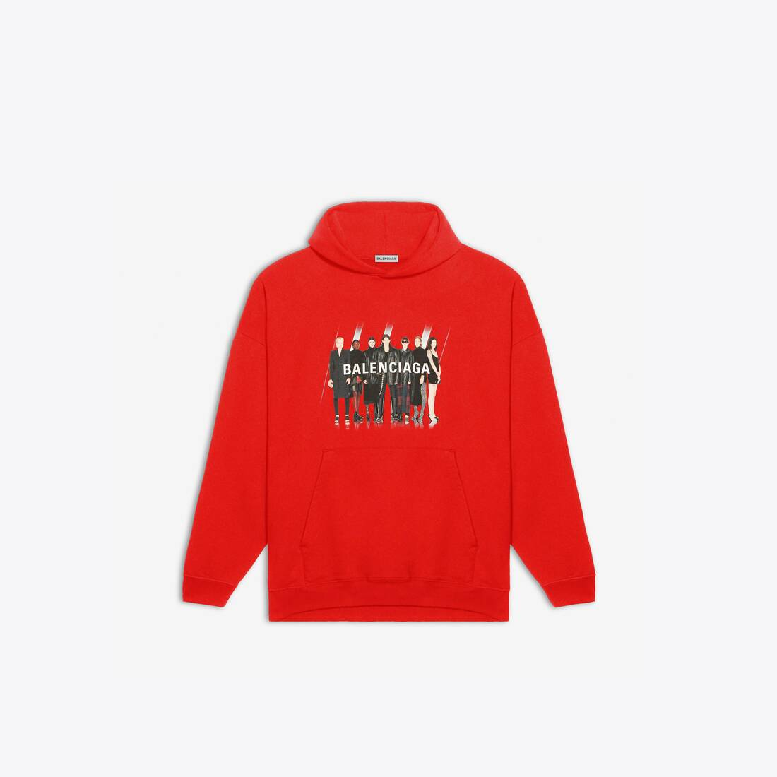 Display zoomed version of real balenciaga 1 large fit hoodie 1