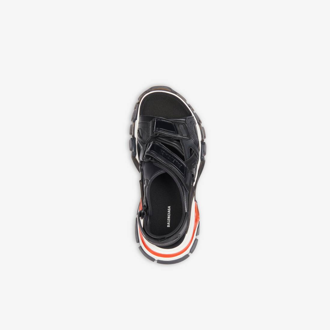 Display zoomed version of track sandal clear sole 5
