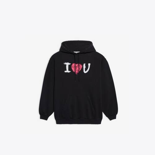 i love u medium fit hoodie