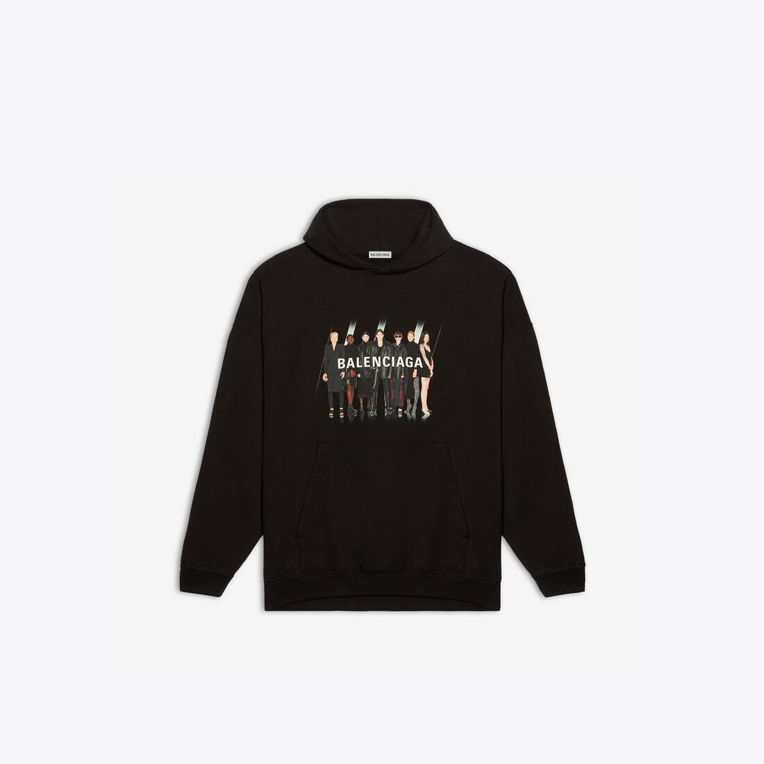 Display zoomed version of real balenciaga large fit hoodie 1
