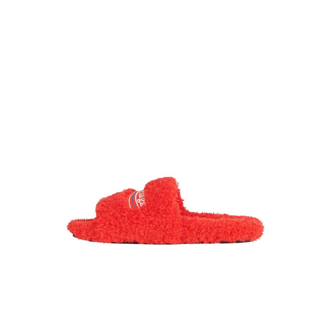 Display zoomed version of furry slide sandal 4