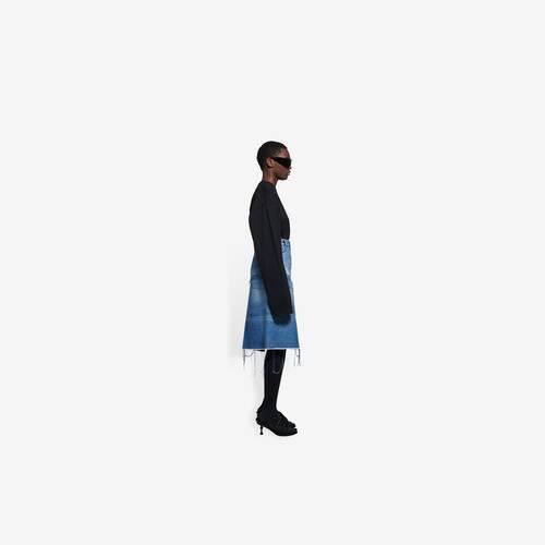 5 pockets slit skirt