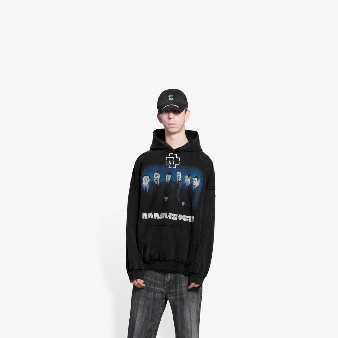 Display zoomed version of rammstein boxy hoodie 3