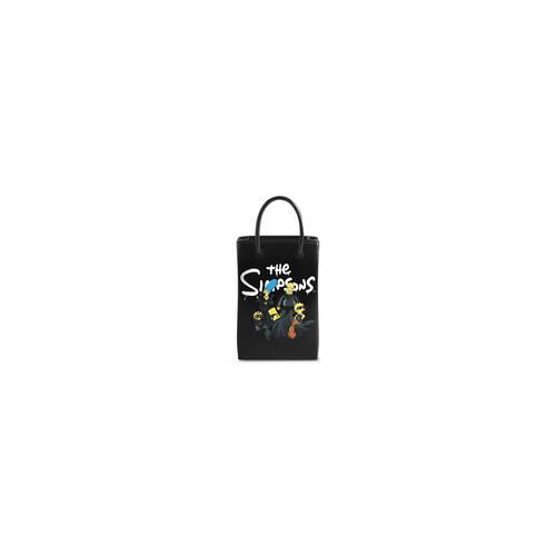 the simpsons tm & © 20th television mini shopping bag in shiny box calfskin