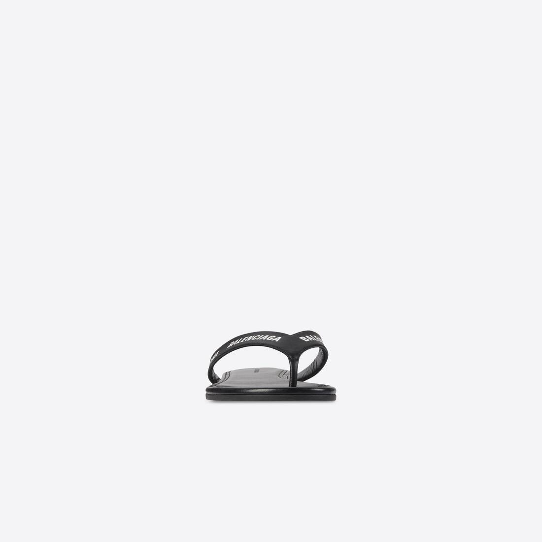 Display zoomed version of allover logo round thong sandal 3