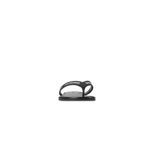 allover logo round thong sandal