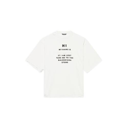 hi my name is wide fit t-shirt