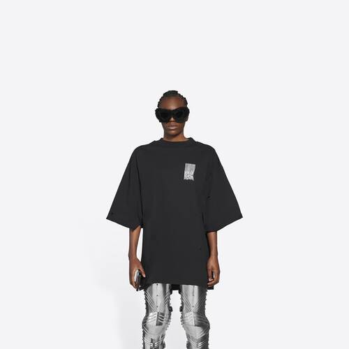 barcode wide 핏 티셔츠