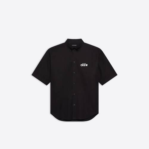camiseta de manga corta de ajuste grande crew