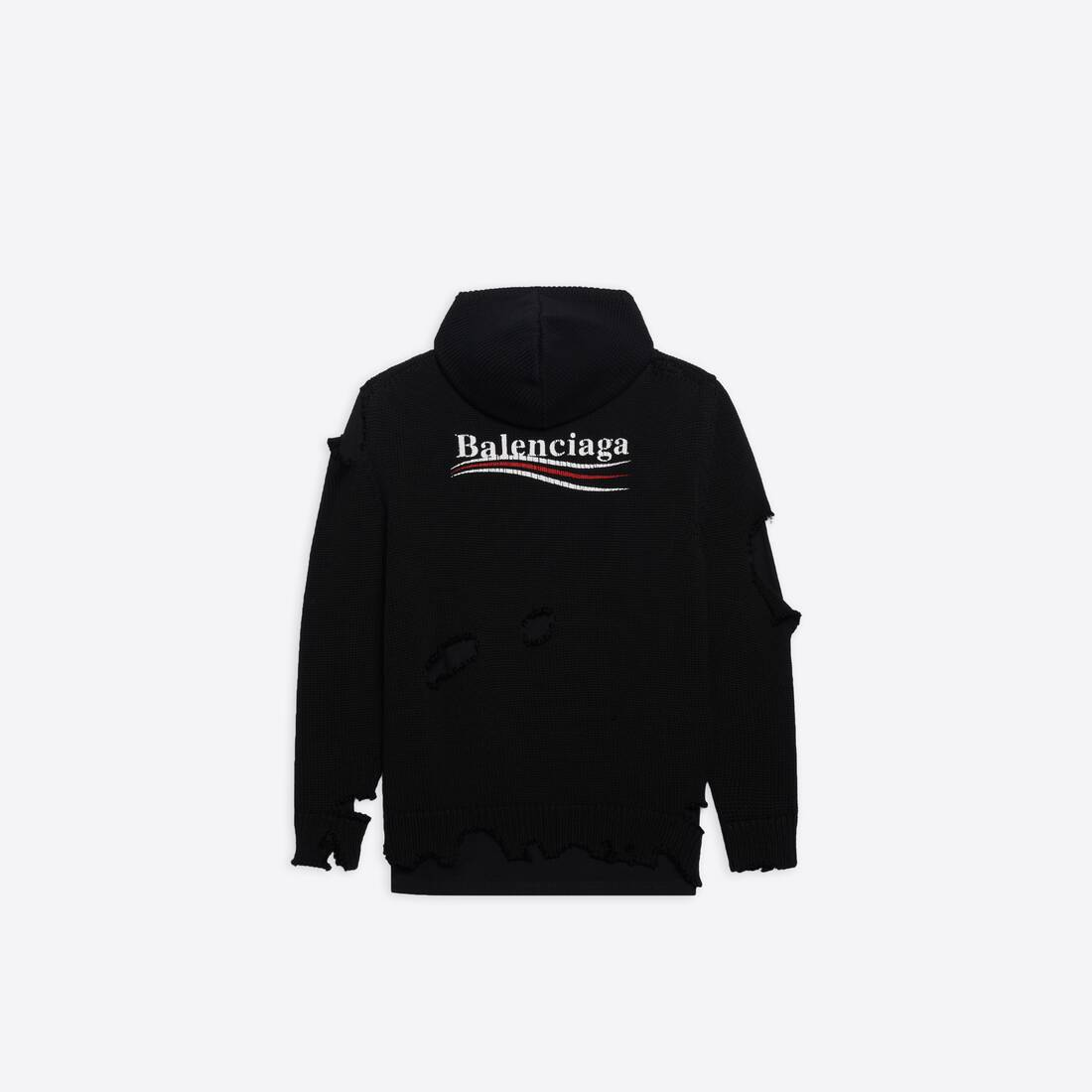 Display zoomed version of political campaign destroyed hoodie 2