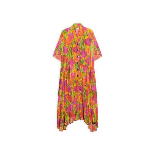 oversized button dress