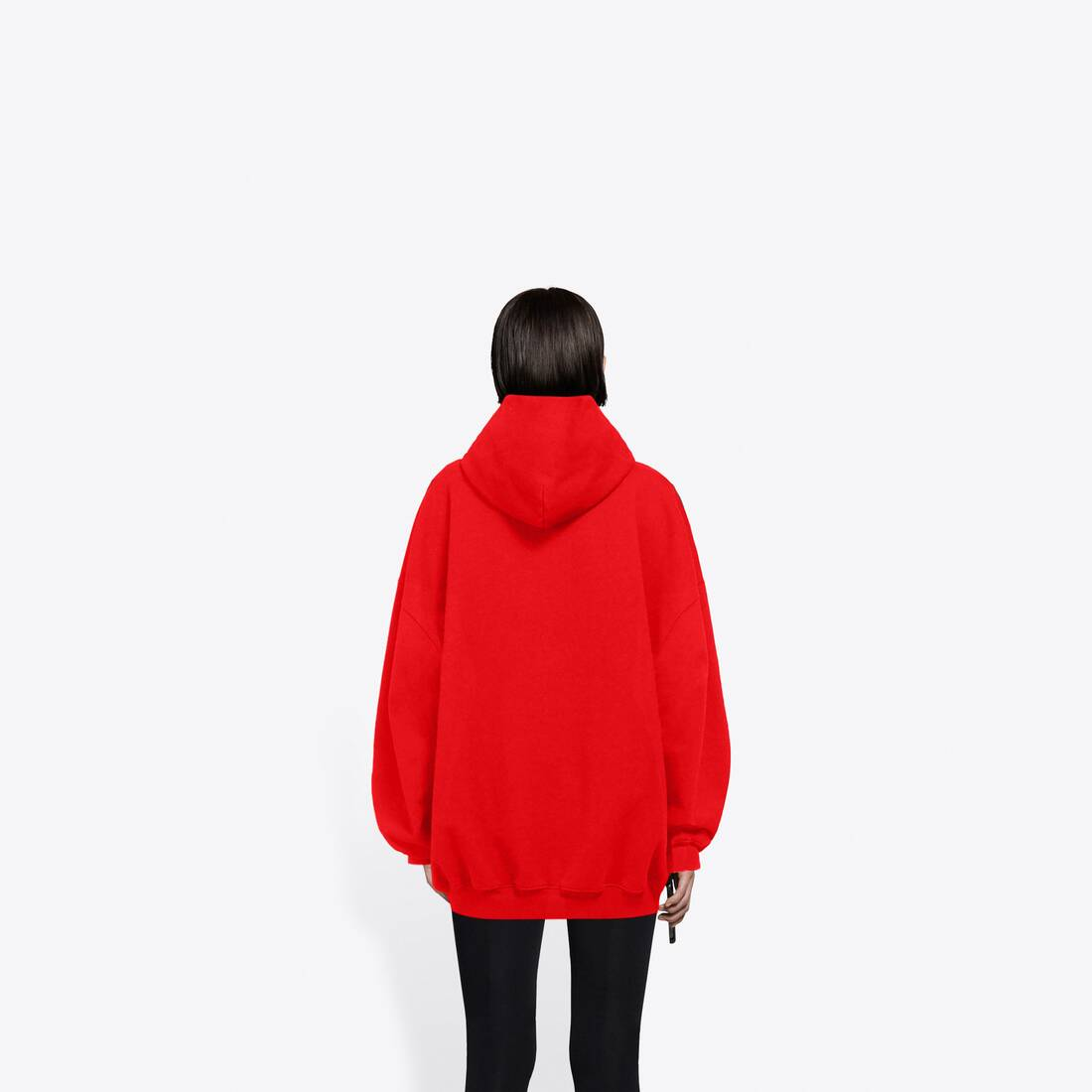 Display zoomed version of real balenciaga 1 large fit hoodie 5