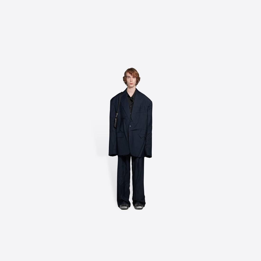 Display zoomed version of oversize single breasted jacket 3