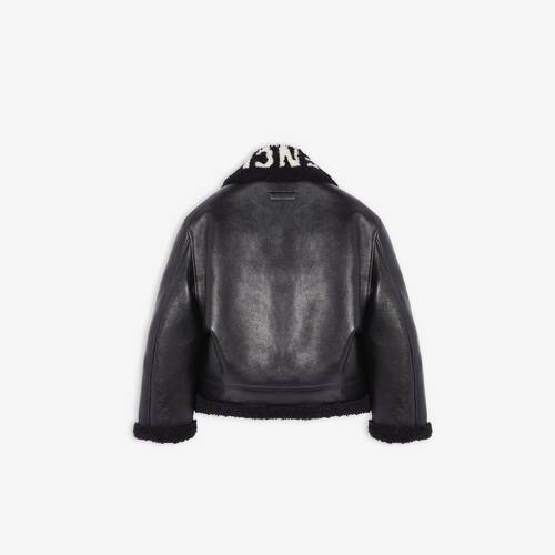 cocoon shearling jacket