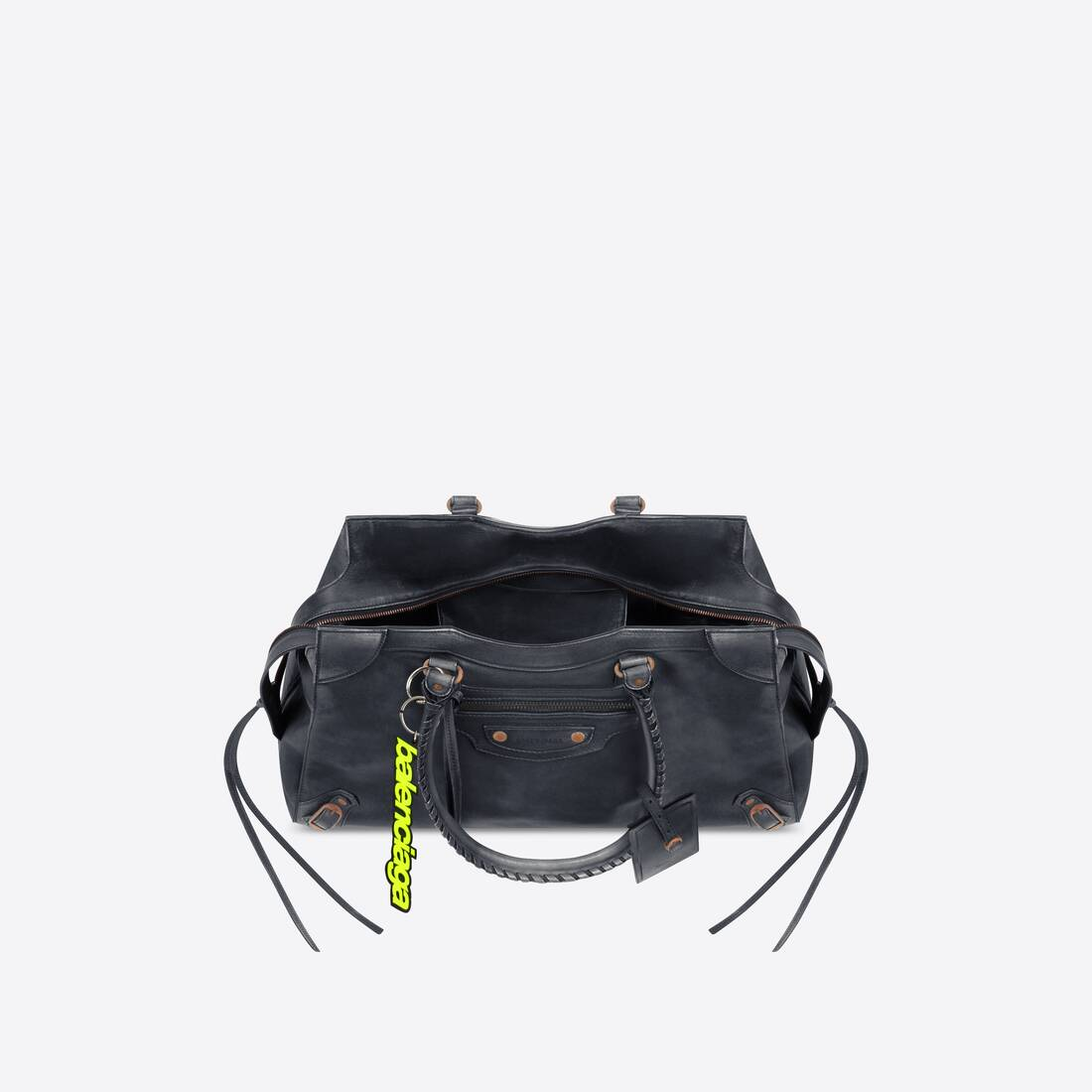Display zoomed version of neo classic large top handle bag 4