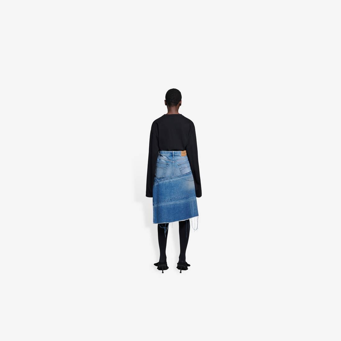 Display zoomed version of 5 pockets slit skirt 5