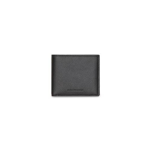 essential square folded coin wallet