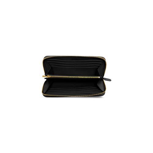 cash continental brieftasche aus genarbtem kalbsleder