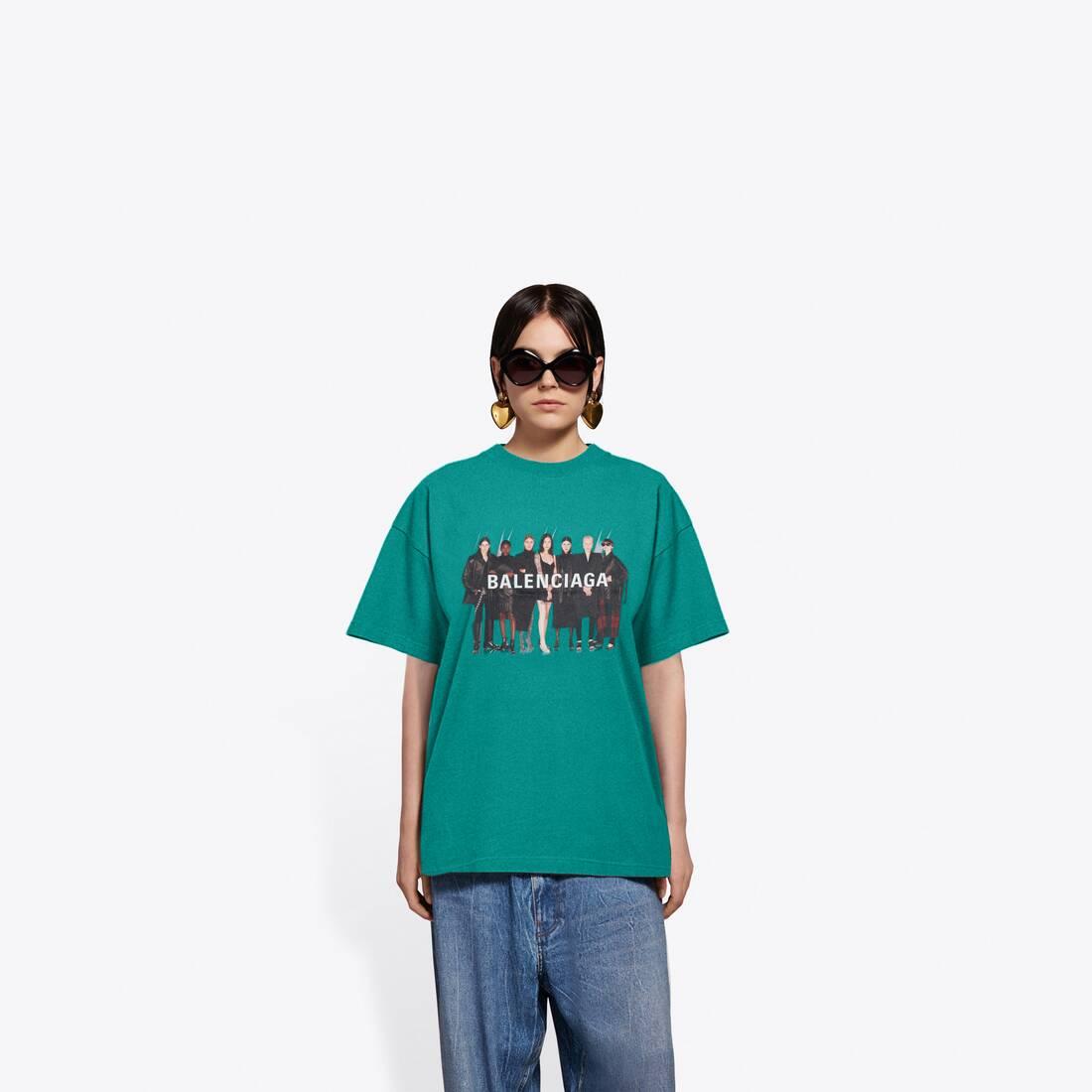 Display zoomed version of real balenciaga medium fit t-shirt  3