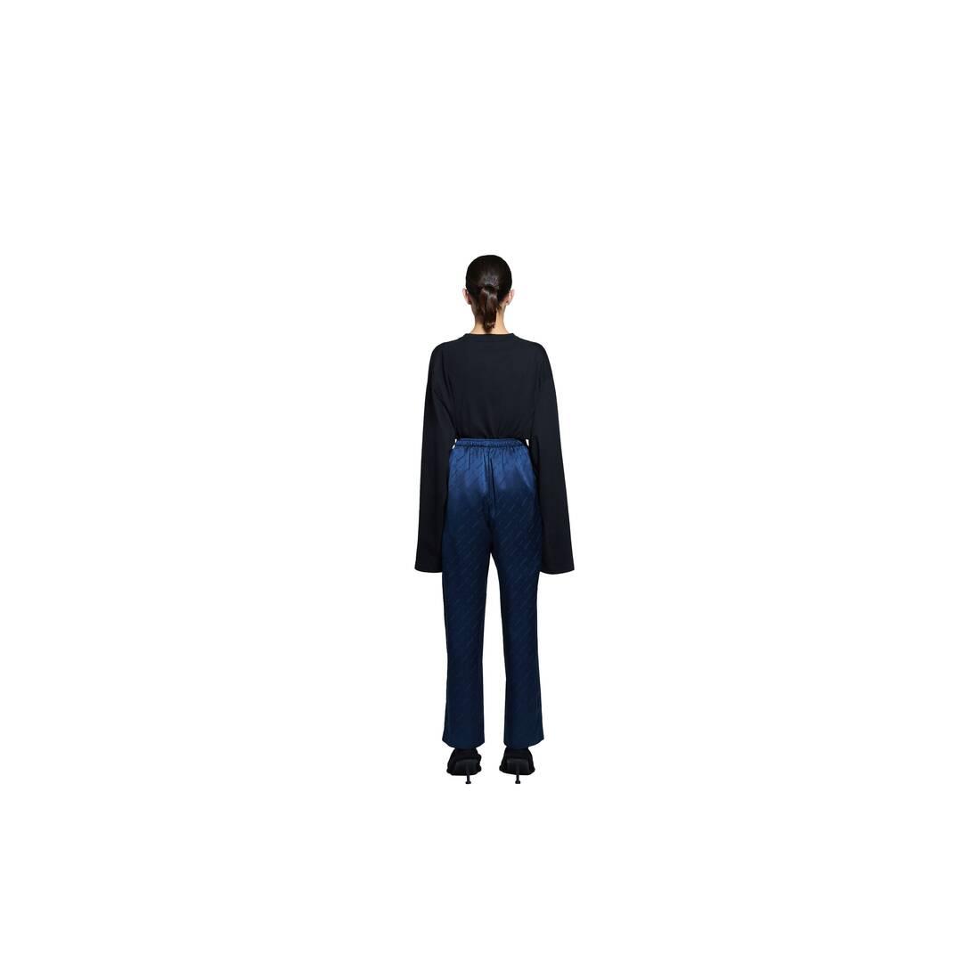 Display zoomed version of allover logo pajama pants 5