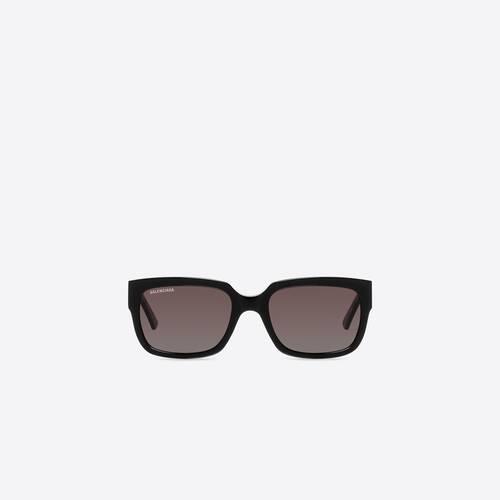 flat d-frame sunglasses