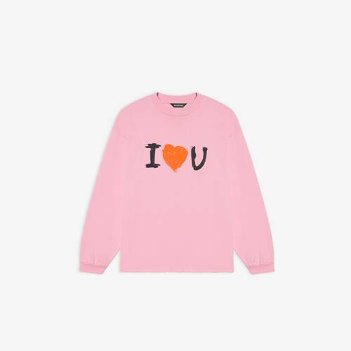 i love u medium fit long sleeve t-shirt