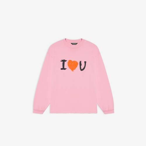 i love u medium fit langärmeliges t-shirt