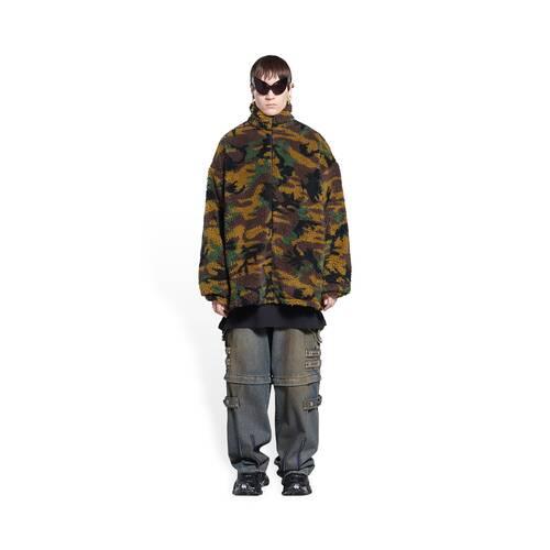 camo zip-up jacket