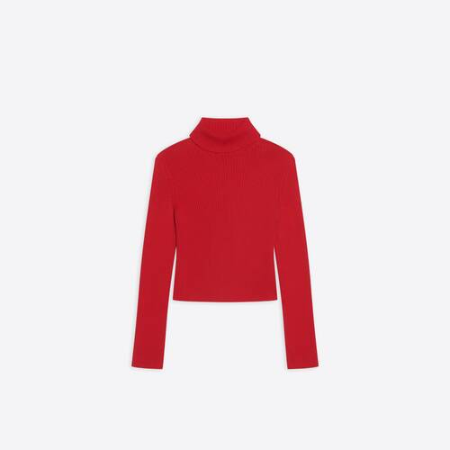free washed out fitted turtleneck
